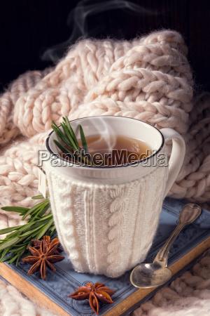herbal tea with rosemary