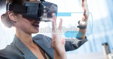 digital zusammengesetztes bild des ruehrenden futuristischen