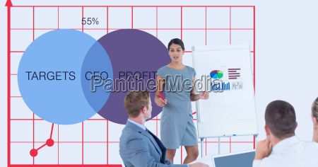 business people in meeting with graphs