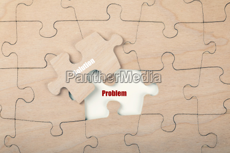 problem solution concept top view with
