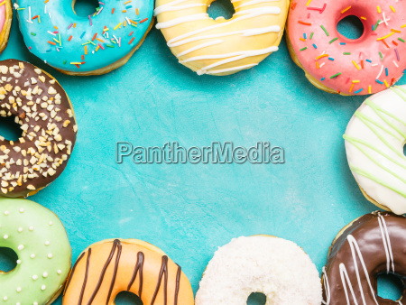 donuts on blue background copy