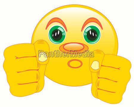 faeuste unterschreiben smiley boxer piktogramm symbol