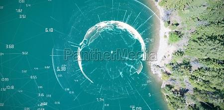 zusammengesetztes bild des bildes von erde