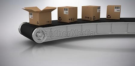 composite 3d image of brown cardboard