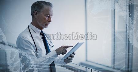 zusammengesetztes bild des panoramablicks von schneckenmusterinformationen