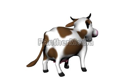 gefleckte cartoon kuh freigestellt