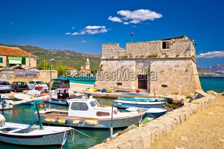 kastel stafilic landmarks and turquoise sea