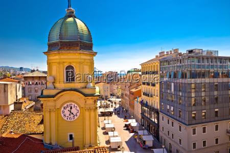 city of rijeka clock tower and
