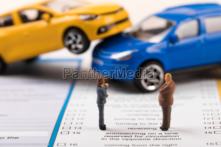 filling the car accident statement after