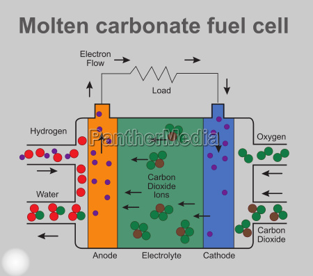 geschmolzene brennstoffzellen struktur