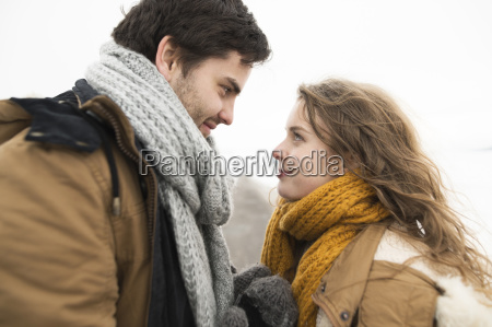 young couple in love face to