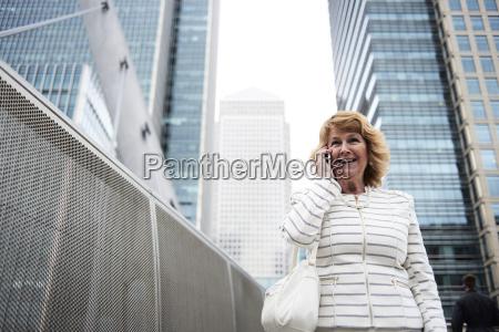 uk london smiling senior businesswoman on