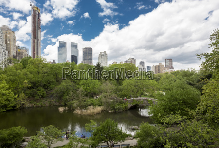 usa new york city skyline with