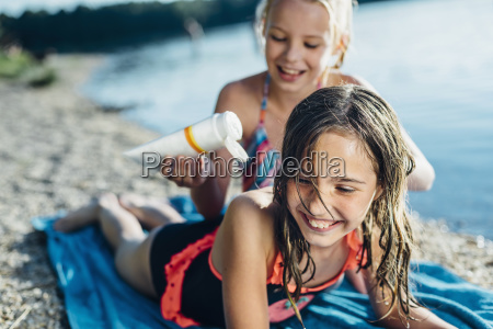 portrait of laughing girl on the
