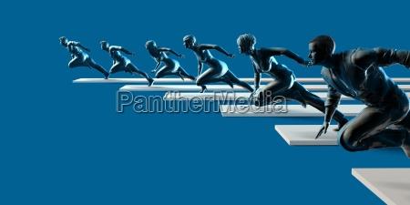 rennen zum erfolg