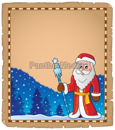 father frost theme parchment 6