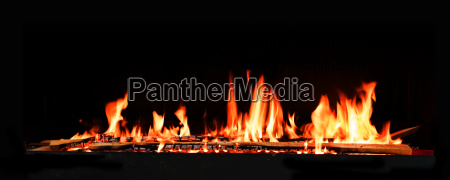 fire flames with dark background