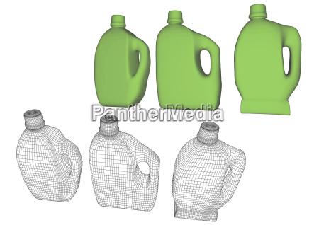 fluessig freisteller haushalt sauberkeit illustration abgeschieden