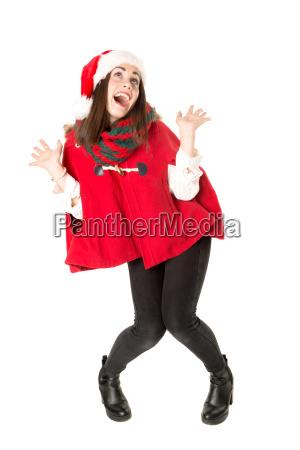 maedchen in weihnachten tanzend