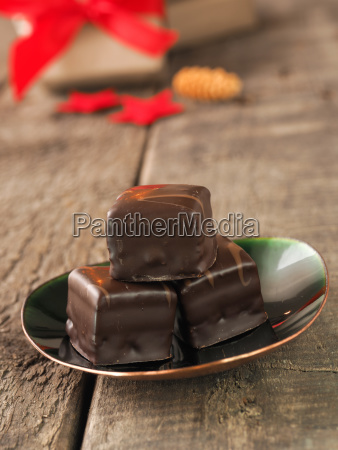 tasty christmas chocolate dices