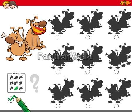 paedagogisches schattenspiel mit hundefiguren