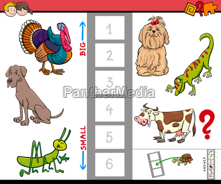 big and small animals game for