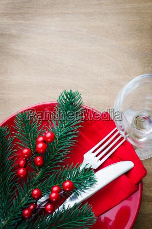 festlicher gedeck fuer heiligabend