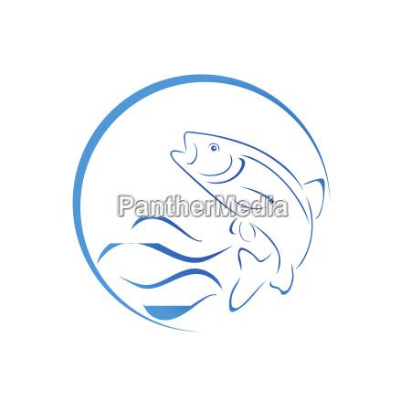 forelle fisch logo angeln