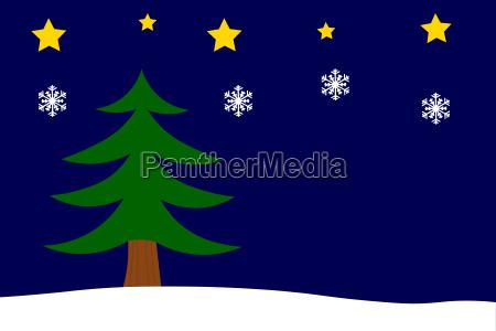 weihnachtshintergrund mit tannenbaum sternen und schneeflocken