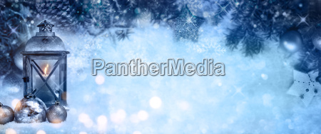 christmas background with snow and a