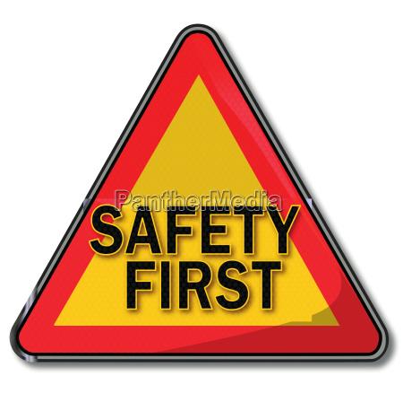schild mit safety first
