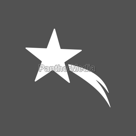 christmas star icon on black background