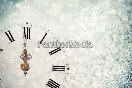 abstract background with clock close to