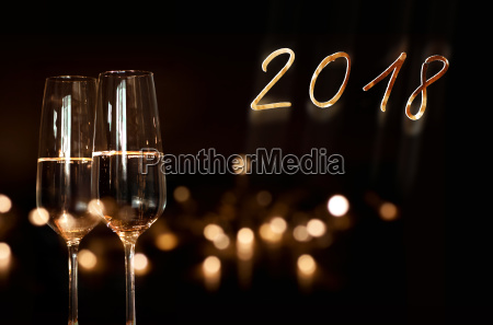 new year background with sparkling wine