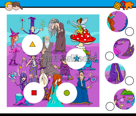 match pieces puzzle with wizards