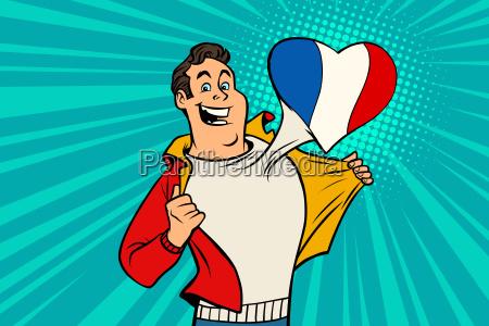 sports fan loves france