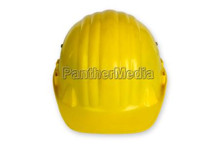 gelber arbeitsschutzhelm