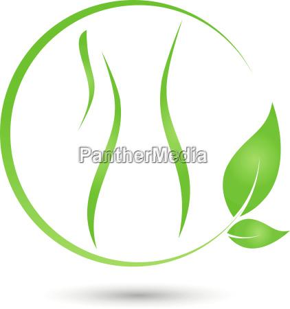 logo woman human leaves naturopath