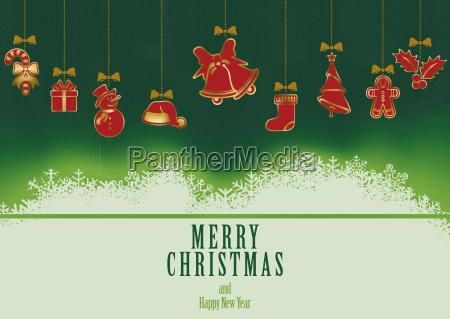 hanging christmas elements background