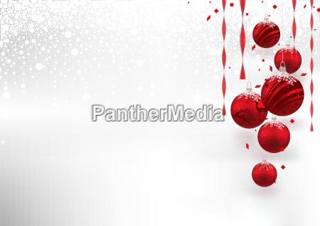 weihnachtshintergrund, mit, roten, flitter - 23419718