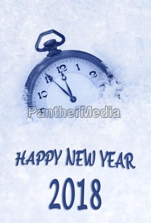 2018 new year greeting card