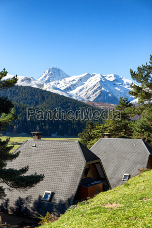 beautiful landscape of pyrenees mountains