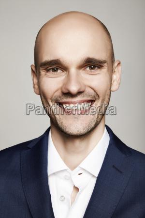 closeup of a smiling man