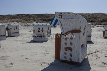 beach chairs in the sunlight