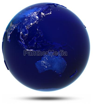 australien suedostasien und ozeanien 3d rendering