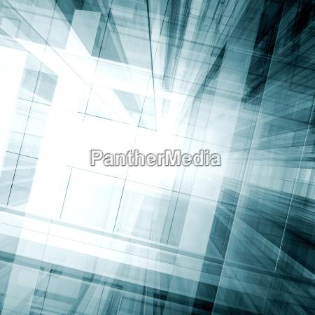 abstract 3d rendering scene