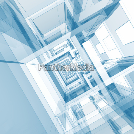 abstract architecture background 3d rendering