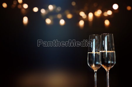 festive new year with champagne