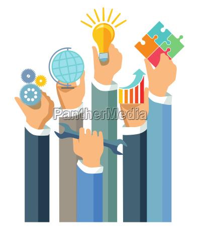 showing business achievementillustration