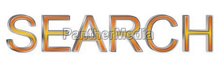 orange suche 3d darstellung